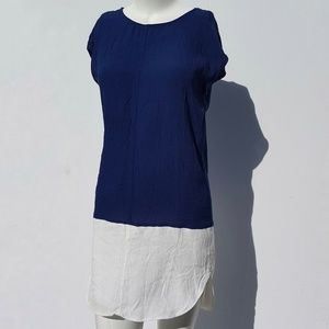 Madewell | Blue & White Ling Tunic Top size XS